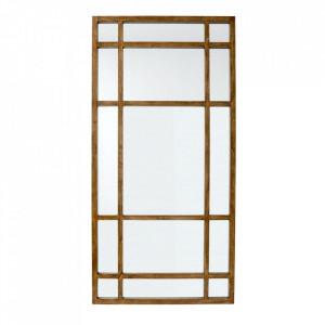 Oglinda dreptunghiulara maro din lemn pentru perete 101x203 cm Spirit Nordal