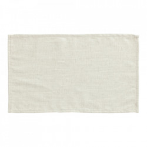 Set 4 protectii masa dreptunghiulare albe din textil 30x50 cm Samay La Forma