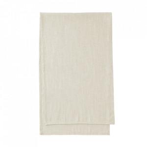 Traversa masa alba din textil 50x160 cm Samatay La Forma