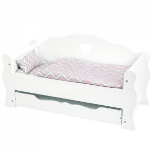 Pat pentru papusi din MDF si textil Day Bed Small Foot