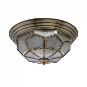 Plafoniera maro alama din metal si sticla cu 3 becuri Marquis MW Glasberg