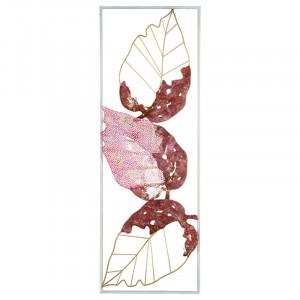 Decoratiune de perete roz/aurie din fier 31x89 cm Hioka Santiago Pons