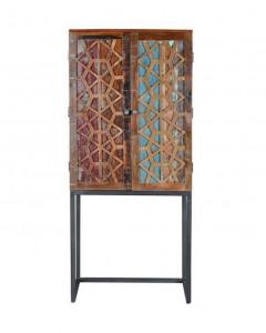 Dulap multicolor din lemn si metal pentru sticle 182 cm Simpa Giner y Colomer