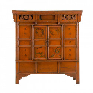 Dulap portocaliu/maro din lemn 165 cm Palu Vical Home