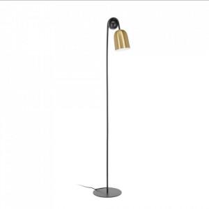 Lampadar negru/auriu din marmura si metal 180 cm Natsumi La Forma
