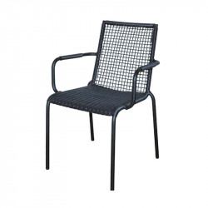 Scaun dining gri din aluminiu si rasina pentru exterior Palm Avi Lifestyle Home Collection