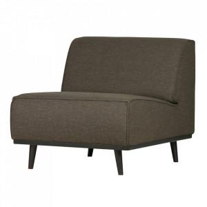 Scaun lounge verde din textil si lemn Statement Be Pure Home