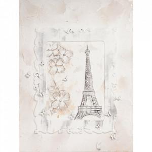 Tablou multicolor din canvas si lemn 90x120 cm Paris Ter Halle