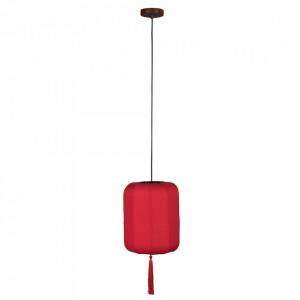 Lustra rosie din textil si fier Suoni Small Dutchbone