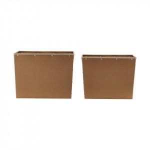Set 2 cutii maro din otel si aluminiu Havas House Doctor