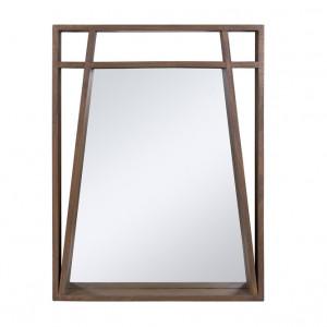 Oglinda dreptunghiulara maro din lemn mindi 70x90 cm Amara Santiago Pons