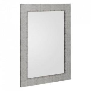 Oglinda dreptunghiulara argintie din MDF 66x86 cm Tomar Ixia