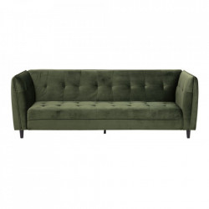 Canapea extensibila verde padure/neagra din lemn si textil 235 cm Jonna Actona Company