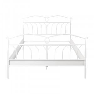 Cadru pat alb din metal 146x208 cm Line Actona Company