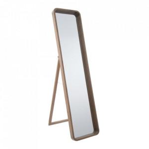 Oglinda dreptunghiulara maro din lemn de paulownia pentru podea 70x147 cm Matilda Ixia