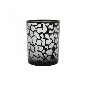 Suport negru din sticla pentru lumanare 13 cm Jafari Lifestyle Home Collection