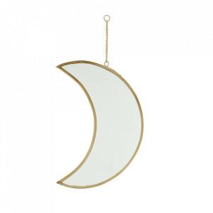 Oglinda aurie din fier si sticla 20 cm Moon Madam Stoltz