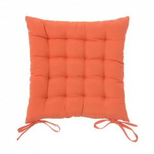 Perna patrata portocalie din poliester si bumbac pentru sezut 40x40 cm Loving Colours Unimasa