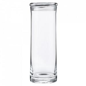 Recipient cu capac transparent din sticla 9x26 cm Cubo Bolia