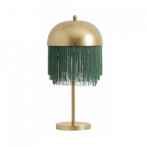 Veioza aurie/verde din fier si poliester 50 cm Fringes Nordal