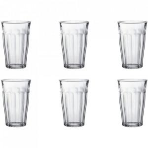 Set 6 pahare transparente din sticla 500 ml Picardie Duralex