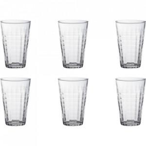 Set 6 pahare transparente din sticla 330 ml Prisme Duralex