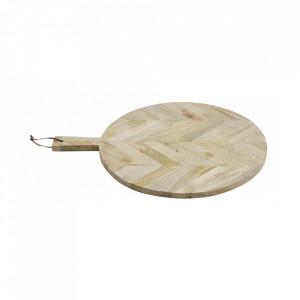 Tocator rotund maro din lemn 46x57 cm Diaz Nordal