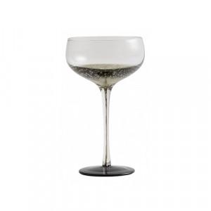 Pahar transparent/negru din sticla pentru cocktail 10x18,5 cm Bobble Nordal