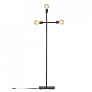 Lampadar negru din metal cu 3 becuri 161 cm Essentials Serax