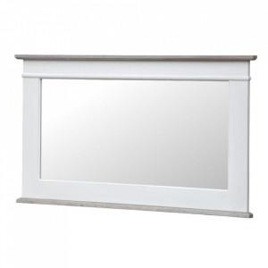 Oglinda alba din lemn de plop si MDF 57x100 cm Rimini Livin Hill