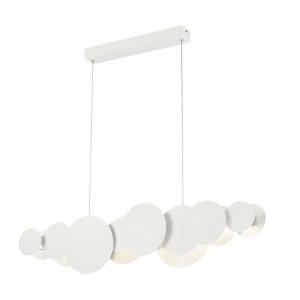 Lustra alba din aluminiu cu LED Cloud Maytoni