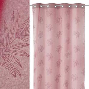 Perdea roz din poliester 140x260 cm Voil Areca Unimasa