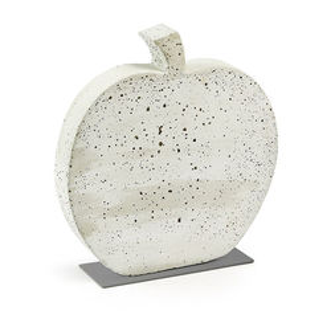 Decoratiune alba din ciment 40 cm Sens Apple La Forma