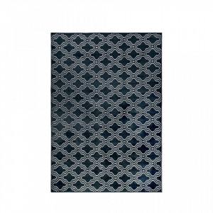 Covor albastru din textil 160x230 cm Feike Midnight Blue White Label