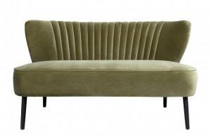 Canapea verde inchis din catifea pentru 2 persoane Twiggy Versmissen