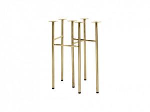 Set picioare aurii pentru masa dining Mingle Gold Ferm Living