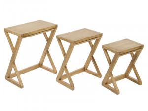 Set 3 masute din lemn mindi Ios Santiago Pons