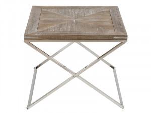 Masuta din lemn de tec si inox 60x60 cm Parma Santiago Pons