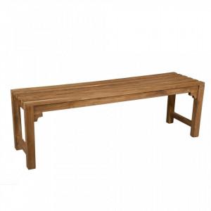 Bancheta din lemn tec 140 cm Teak Santiago Pons