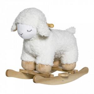 Balansoar alb/maro din lemn si poliester Sheep Bloomingville