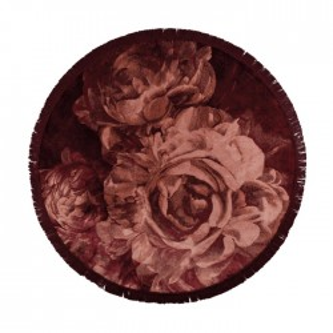 Covor roz din matase artificiala si poliester 175 cm Stitcky Roses Round Bold Monkey