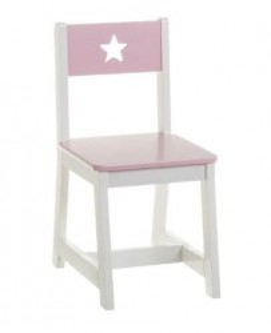 Scaun alb/roz din MDF pentru copii Josephe Unimasa