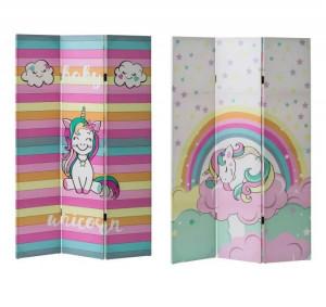 Paravan multicolor din MDF 120X180 cm Baby Unicorn Unimasa