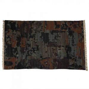 Covor multicolor din lana si viscoza 160x230 cm Bandi Zago