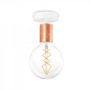 Plafoniera aramie/alba din otel Cero Basic Bulb Attack