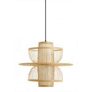 Abajur maro din bambus si plastic Sigyn Nordal