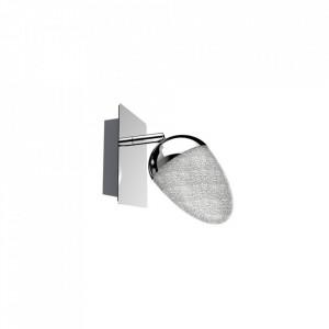 Aplica argintie din inox si sticla cu LED Sparkles Zuma Line