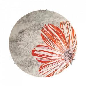 Aplica multicolora din sticla si otel Spring Round Small Candellux
