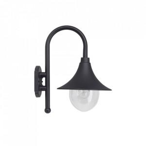 Aplica neagra din aluminiu si plastic pentru exterior Berna Brilliant