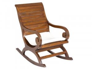 Balansoar maro din lemn mindi Rocking Santiago Pons